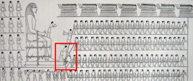 reproduccion-del-dibujo-de-la-tumba-de-djehutihotep-en-el-que-se-ve-al-aguador-wikicommons